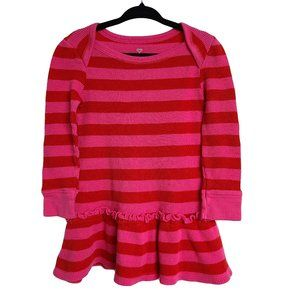 OLD NAVY Pink & Red Striped LS Dress 2T